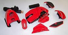 Mad Catz Cyborg Maus R.A.T. 9 Wireless Gaming Maus 6400 DPI für PC Mac Rot