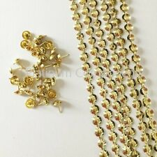 NEW GOLD UPHOLSTERY NAILS / TACKS / STUDS STRIPS FROM 50 METERS - 200 METERS