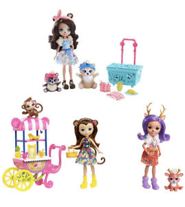 Enchantimals Picnic in The Park 3 x 6 Inch Doll Animal Figures Playset Play Toy