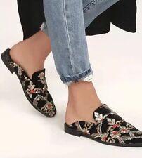 Free People At Ease Brocade Slip On Loafer Mule Floral black size 38  7.5
