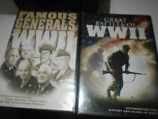 Great Battles Of WWII & Famous Generals Of WWII New Sealed DVD's Ship Free