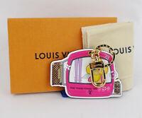LOUIS VUITTON Charm Key Ring Porte Cles Vivienne Monogram M68653 authentic