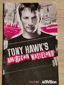 Tony HAWK'S American Wasteland Nintendo Gamecube Game Cube Manual