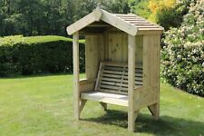Wooden Garden Arbour Bench Seat Gazebo Pergola Roof Trellis Cushion Hand Made