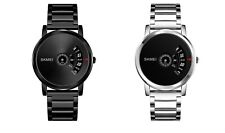 SKMEI Mens Dress Formal Fashion Stainless Steel Waterproof Quartz Wrist Watch