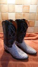 Mens Dan Post Python & Leather Cowboy Boots Size 8.5 (US 9)