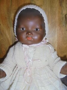 20 IN GOOD QUALITY POT BELLY A M 341 BLACK CLOSED MOUTH DREAM BABY/HAIRLINE.