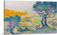 ARTCANVAS La Plaine De Bormes 1908 Canvas Art Print by Henri Edmond Cross