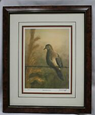 Barbed Wire Lookout by Les McDonald, Jr. 130/450 Wildlife & Sporting Art Framed