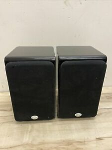 NHT piano black sb-1 speakers, fully functional