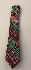 Boys Christmas Plaid Tie. New.