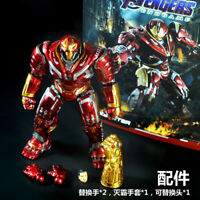 7'' Avengers Endgame Iron Man Hulkbuster Action Figure Mark With Infinite Glove