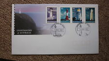 2002 LIGHTHOUSES OF AUSTRALIAN FDC, 4 STAMPS, LIGHTHOUSE PM EDITHBURGH