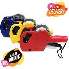 Price Tag Gun Machine Labels + 1 Ink Roller Set 8 Digits Pricing Labels Tools