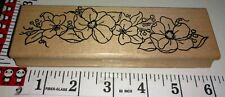 Dogwood swag, magnolia swag, flower, parked on rubber, 110, wooden,rubber,stamp