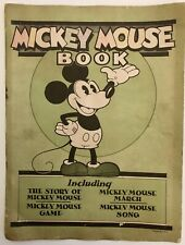 "*Rare* 1930 ""MICKEY MOUSE BOOK"" Walt Disney GAME SONG COMPLETE Bibo and Lang"