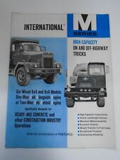 VINTAGE 1963 INTERNATIONAL M SERIES CONSTRUCTION TRUCK DEALERSHIP SALES BROCHURE