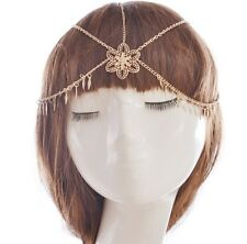 Headwear Metal Crystal Flower Chain Jewelry Headband Head Piece Hair Gift AM