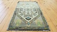 """Muted Vintage 1950-1960's Wool Pile,1'6""""× 2'7"""" Natural Dye,Tribal Area Rug"""