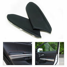2pcs Black For 2008-2012 Honda Accord Front Door Panels Armrest Covers Leather
