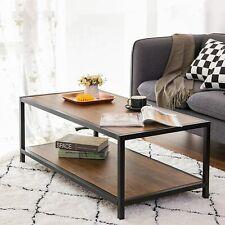 Westwood Industrial Vintage Wooden Coffee Side Table - Black