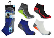 6 Pairs Mens Cushioned Sole Trainer Liner Pro Active Sports Socks Running Gym