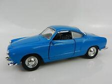 """1:32 (4.75"""") WELLY = VW Volkswagen KARMANN GHIA *BLUE* Diecast Car *NEW!*"""