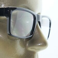 Reading Glasses TV News Reporter Bold Square Style Black Frame +1.75 Lens Power