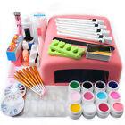 Nail Art Tools Set 36W UV Lamp Dryer +12 Color UV Gel Nails Tips Polish Kit