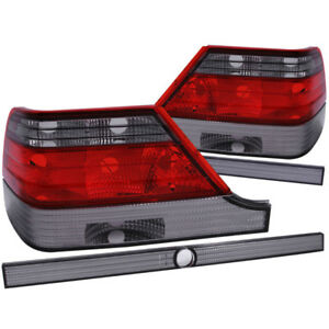 ANZO 1995-1999 Mercedes Benz S Class W140 Taillights Red/Smoke - anz221154