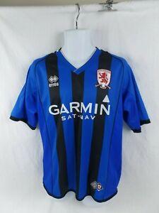 Middlesbrough MFC BORO 2008-09 Away Strip football Shirt Large Blue/black Garmin