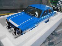 FORD Escort 1 RS MKI RS1600 FAV blau blue whit Hundeknochen 1970 Minichamps 1:18