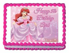 LITTLE MERMAID ARIEL party decoration edible birthday cake image cake topper