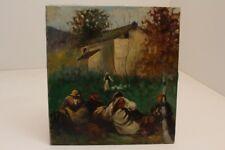 impressionistisches dipinto AUTOGRAFATO Circa 1900 rastende ARABO ?ORIENTE?