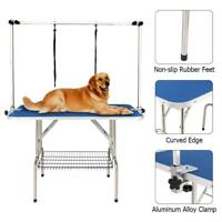 HAIGE PET Dog Grooming Table, Large Heavy Duty w/Adjustable Overhead Arm Clamps