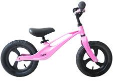 "Ammaco Flow 12"" Wheel Kid Balance Training First Bike Lightweight Mag Alloy Pink"
