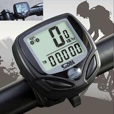 Bicycle Bike Waterproof LCD Odometer Speedometer Cycling Speed Meter