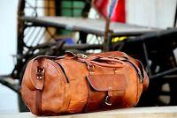 "24"" Men's Genuine Leather Large Vintage Duffel Travel Gym Weekend Overnight Bag"