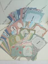 Kit de inserción floral de papel (43 hojas) Cardmaking Scrapbooking Manualidades insertar AM201