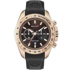 Gant GT059004 Bedford Chronograph rose gold black rubber Men's Watch NEW
