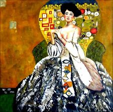 Gustav Klimt Adele Bloch-Bauer Repro, Quality Hand Painted Oil Painting 36x36in