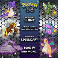 Pokemon Go account Shadow, 100% IV, Legendary, Regionals & more..