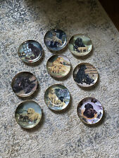 Franklin Mint Labrador Collection by Nigel Hemming- 9 plates