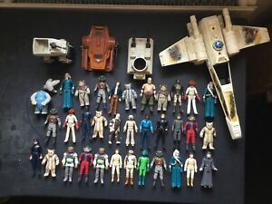 vintage star wars figures and vehicles