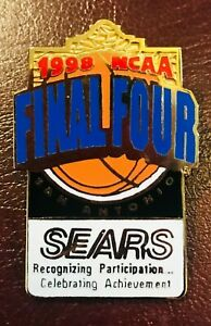 1998 Sears FINAL FOUR NCAA College Basketball PIN Kentucky Wildcats vs Utah Utes