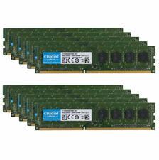 Crucial 80GB DDR3 RAM 10x 8GB PC3L 12800U 2RX8 1600MHz DIMM Desktop Memory RAM