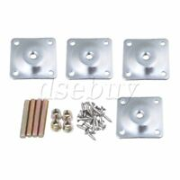 4 Pieces 48x48mm Iron Leg Mounting Plates for Furniture Leg Repairing