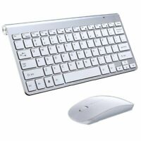 Waterproof 2.4G Wireless Keyboard Mouse w/ USB Receiver For Mac Pc Laptop