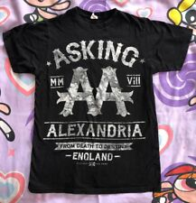 "Asking Alexandria T-Shirt ""From Death to Destiny"" M concert tour england"