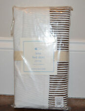 NIP Pottery Barn Kids Baby Pink LENA Striped Crib Bed Skirt